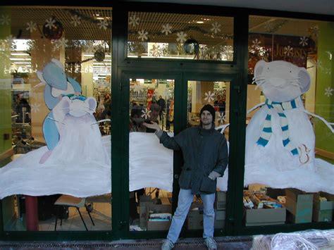 atelier alupi peinture et d 233 coration de vitrines de noel