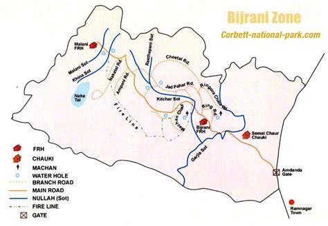 corbett zone bijrani park map national jim india safari