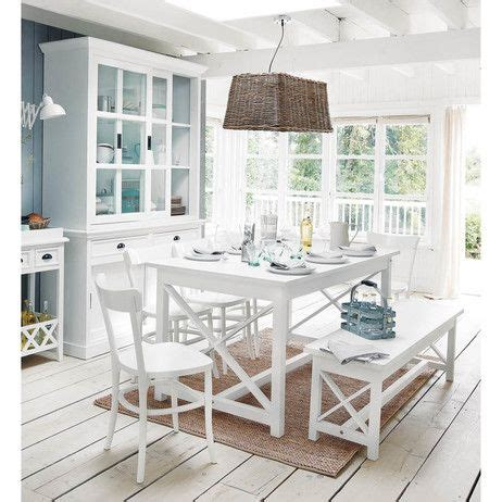 mesa rectangular blanca 160 newport maisons du monde decoracion mesas