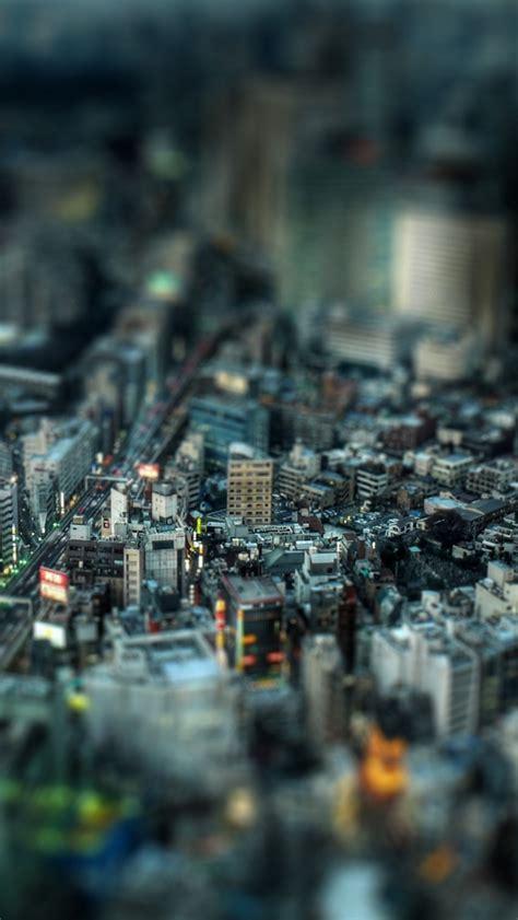 tokyo tilt shift miniature cityscape iphone  wallpaper hd