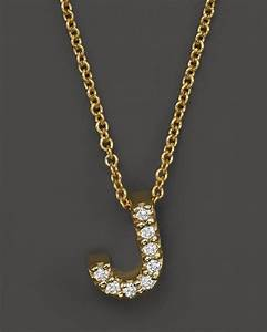 roberto coin 18k yellow gold and diamond initial love With roberto coin letter necklace