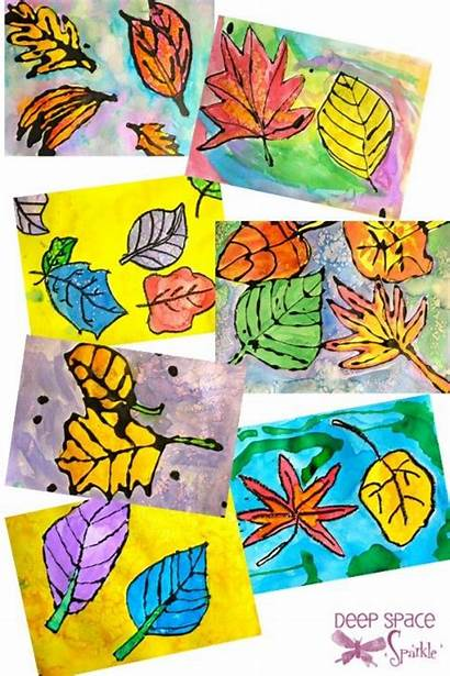 Watercolor Grade Leaves Projects Fifth Fall Leaf
