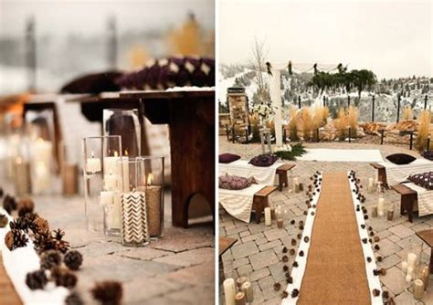 picture of gorgeous winter wedding aisle decor ideas 11