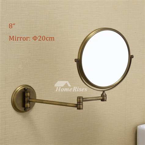 makeup mirror wall mount folding double sided  magnifying