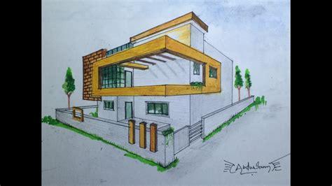 Haus Perspektivisch Zeichnen by Architectural Perspective Drawing 3