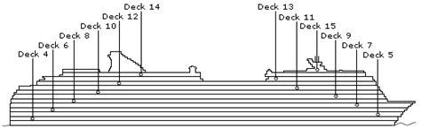 ncl deck plans pride of america pride of america deck plans