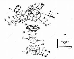 Evinrude 1983 60 - E60tlctb  Carburetor