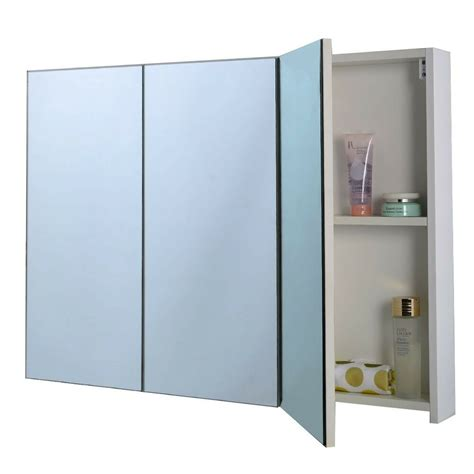Bathroom Cupboard With Mirror by Bathroom Storage Cabinet With 3 Mirrors Cupboard Bath