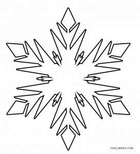 printable snowflake coloring pages  kids