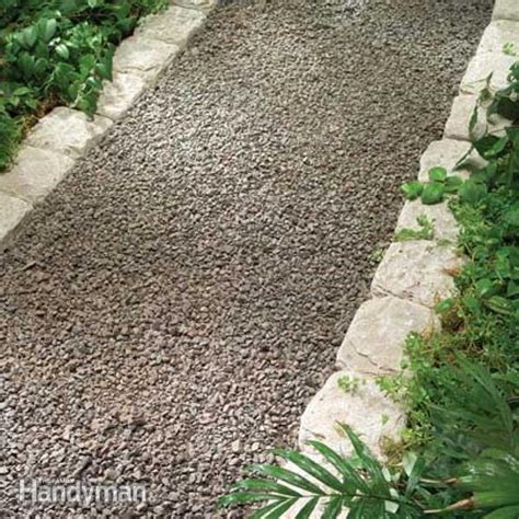 walkway edging material planning a backyard path gravel paths the family handyman