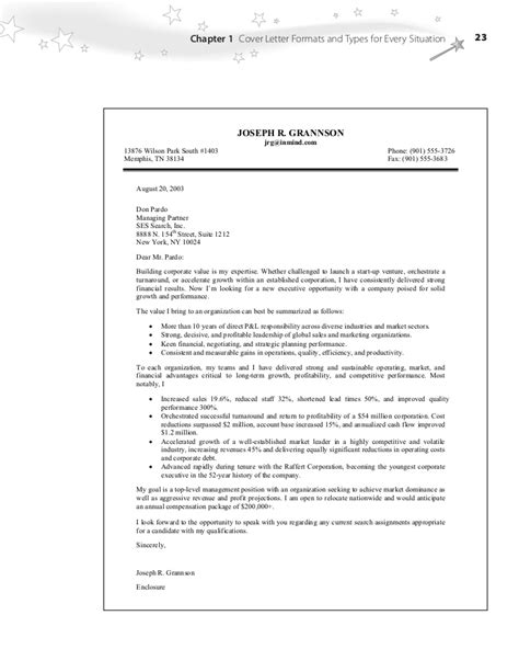 cover letter bullet points project scope template