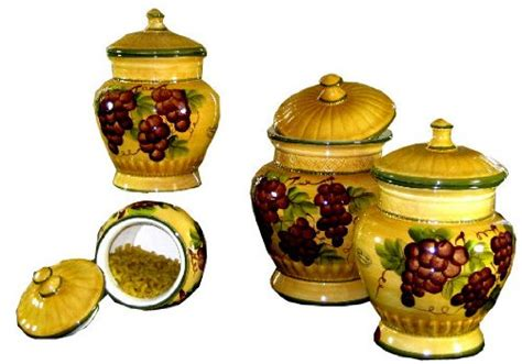 Tuscan Style Kitchen Canister Sets by Tuscan Kitchen Canister Sets Tuscany Grape 4