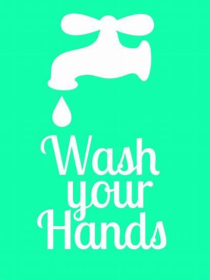 Wash Hands Printable Bathroom Sign Signs Washing