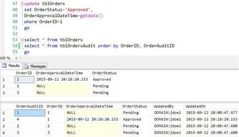 sql trigger audit table changes create a simple sql server trigger to build an audit trail