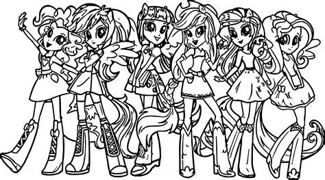 My Little Pony Girls Coloring Page Wecoloringpagecom