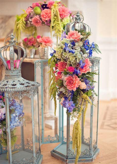 Floral Lantern Centerpieces Flower decorations Fun