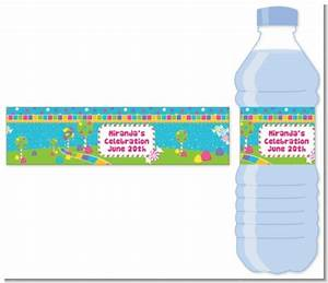 candy land water bottle label birthday party water With cute sayings for water bottle labels