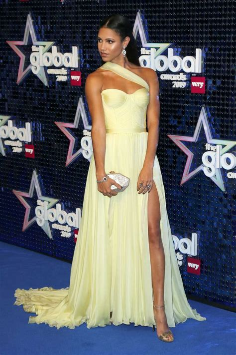 vick hope attends  global awards  london