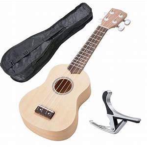 "21"" Ukulele Mini Hawaiian Guitar 4-String 12 Frets Musical ..."