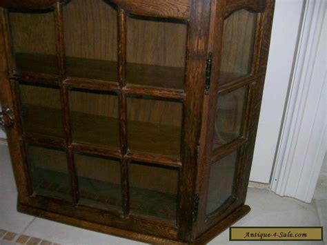 divider cabinet for sale antique vintage all wood oak large curio wall display