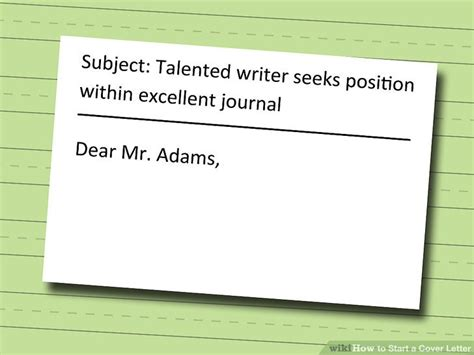 Ways To Address A Cover Letter by 4 Ways To Start A Cover Letter Wikihow