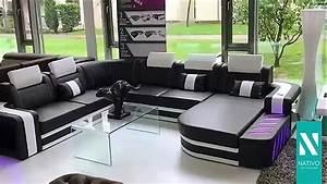 Xxl Meubles Canape : nativo mobilier france canap design space xxl avec clairage led youtube ~ Teatrodelosmanantiales.com Idées de Décoration