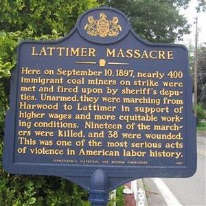 Lattimer Massacre Historical Marker