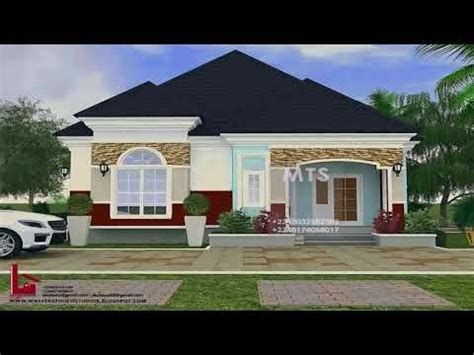 pictures   bedroom bungalow house plans  nigeria youtube  bedroom house plans