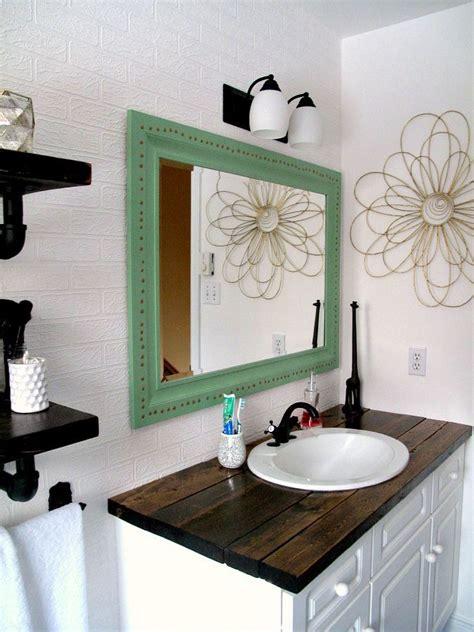 Bathroom Vanity Countertop Ideas by Rustic Wood Vanity Diy Wood Counter Top Bathroom