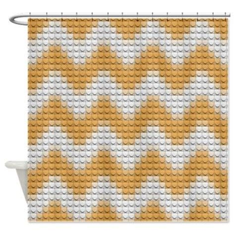 creamsicle lego chevron shower curtain lego mania