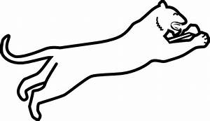 White Panther Clipart