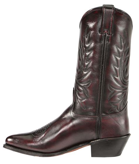 Black And White Cowhide Boots by Abilene Black Cherry Polished Cowhide Boots Medium Toe