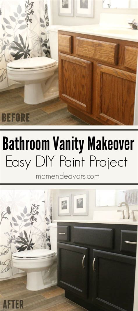 How To Refinish Bathroom Cabinets With Paint by Bathroom Vanity Makeover Easy Diy Home Paint Project