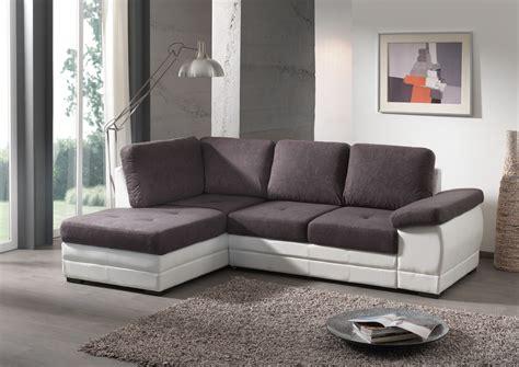 canapé d angle convertible gris anthracite salon gris et blanc