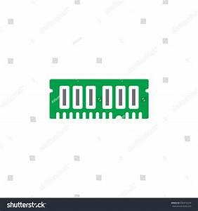 Ram Random Access Memory Icon Vector Stock Vector ...