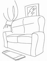 Coloring Couch Pages Comfy Cough Colouring Template Popular sketch template