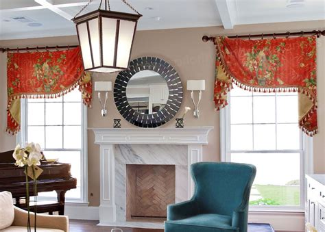 Living Room Swag Valances by Flat Swag Valance On Rings Pwv Custom Valances