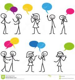 Stick Figure Conversation Clip Art