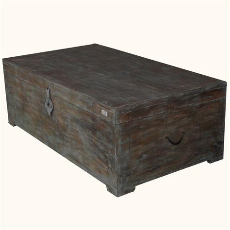 distressed trunk coffee table rustic mango wood distressed storage coffee table chest