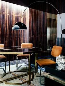 Giorgio, Possenti, Brass, Geometric, Table, Rust, Velvet, Office, Wood, Panel, Walls, 70s, Modern, Luxe
