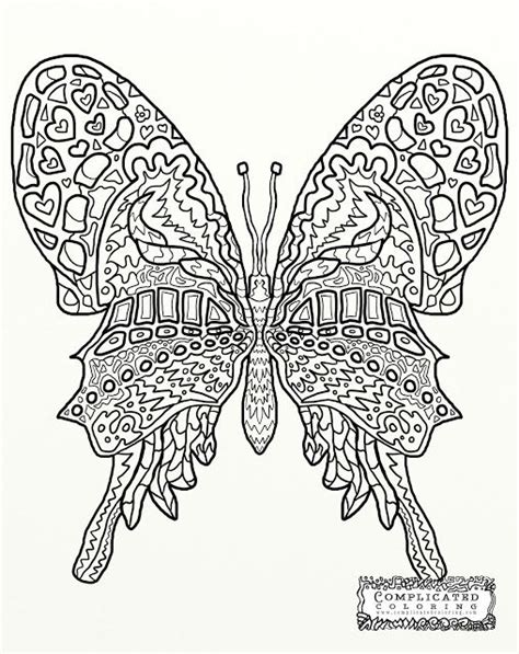butterfly abstract doodle zentangle coloring pages