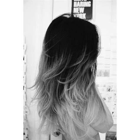 White Ombre Hair Liked On Polyvore Featuring Hair My