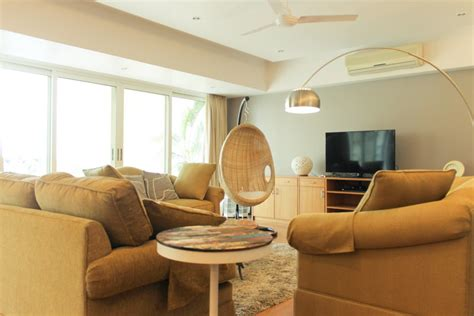 swing rattan chair in india living room before after