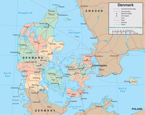 map  denmark denmark map  travel information