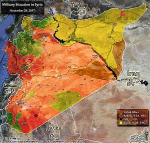 Map Comparison: Military Situation In Syria On November 20 ...