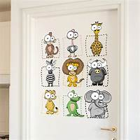 lovely lion wall decals Cartoon Wall Stickers Elephant Monkey Lion Lovely big eyes Animals Children Room Wall Sticker ...