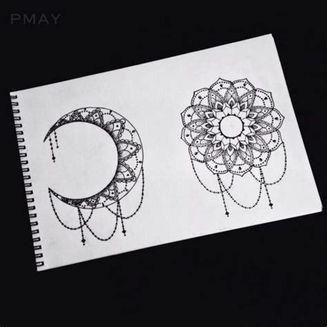 sun  moon mandala tumblr tatoo pinterest
