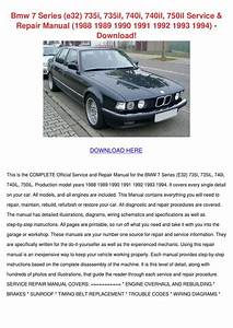 Bmw 7 Series E32 735i 735il 740i 740il 750il By Rustyreeve