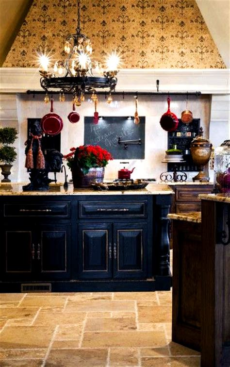 black island kitchen home decor ideas country kitchen with a distressed black kitchen island and rustic wood