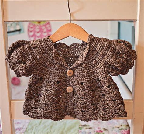 Crochet PATTERN Puff Sleeve Shrug Cardigan sizes baby up ...